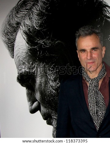 """LOS ANGELES - NOV 8:  Daniel Day-Lewis arrives at the """"Lincoln"""" Premiere at the AFI Fest at Graumans Chinese Theater on November 8, 2012 in Los Angeles, CA - stock photo"""