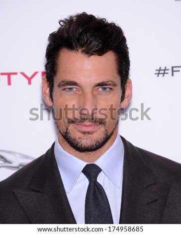 LOS ANGELES - NOV 19:  David Gandy arrives to the Jaguar F-TYPE Global Reveal Event  on November 19, 2013 in Playa Vista, CA                 - stock photo