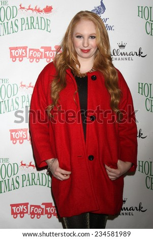 LOS ANGELES - NOV 30:  Elizabeth Stanton at the 2014 Hollywood Christmas Parade at the Hollywood Boulevard on November 30, 2014 in Los Angeles, CA - stock photo