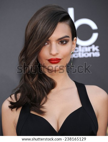 LOS ANGELES - NOV 14:  Emily Ratajkowski arrives to the The Hollywood Film Awards 2014 on November 14, 2014 in Hollywood, CA                 - stock photo