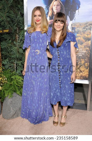 """LOS ANGELES - NOV 19:  First Aid Kit  arrives to the """"Wild"""" Los Angeles Premiere on November 19, 2014 in Beverly Hills, CA                 - stock photo"""