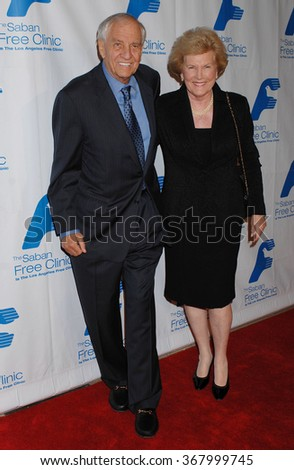 LOS ANGELES - NOV 19 - Garry Marshall and wife Barbara arrives at the 36th Annual Saban Free Clinic Dinner Gala on November 19, 2012 in Beverly Hills, CA              - stock photo