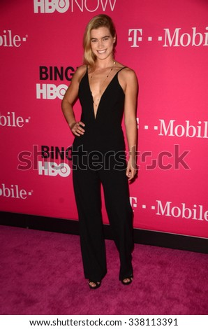 LOS ANGELES - NOV 10:  Gemita Samarra at the T-Mobile Un-carrier X Launch Celebration at the Shrine Auditorium on November 10, 2015 in Los Angeles, CA - stock photo