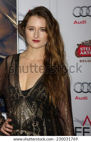"LOS ANGELES - NOV 11:  Grace Gummer at the ""THe Homesman"" Screening at AFI Film Festival at the Dolby Theater on November 11, 2014 in Los Angeles, CA"