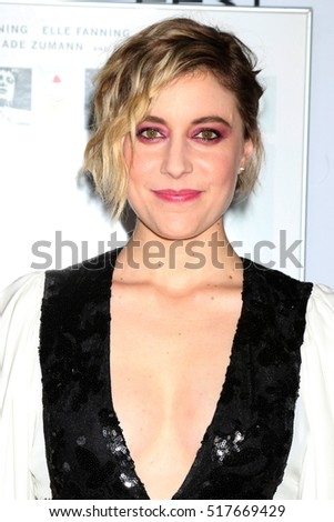 "LOS ANGELES - NOV 16:  Greta Gerwig at the A Tribute To Annette Bening And Gala Screening of ""20th Century Women"" at TCL Chinese Theater IMAX on November 16, 2016 in Los Angeles, CA"