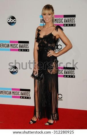 LOS ANGELES - NOV 24:  Heidi Klum arrives at the 2013 American Music Awards Arrivals  on November 24, 2013 in Los Angeles, CA                 - stock photo