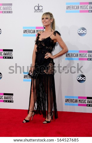 LOS ANGELES - NOV 24:  Heidi Klum at the 2013 American Music Awards Arrivals at Nokia Theater on November 24, 2013 in Los Angeles, CA - stock photo