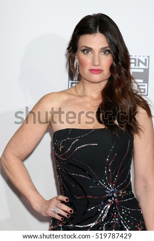 LOS ANGELES - NOV 20:  Idina Menzel at the 2016 American Music Awards at Microsoft Theater on November 20, 2016 in Los Angeles, CA