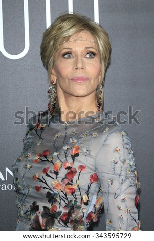 """LOS ANGELES - NOV 17:  Jane Fonda at the """"Youth"""" LA Premiere at the Directors Guild of America on November 17, 2015 in Los Angeles, CA - stock photo"""