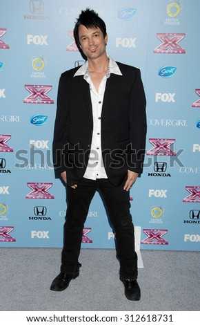 LOS ANGELES - NOV 4:  Jeff Gutt arrives at 2013 The X Factor Top 12 Finalists  Premiere  on November 4, 2013 in Beverly Hills, CA                 - stock photo