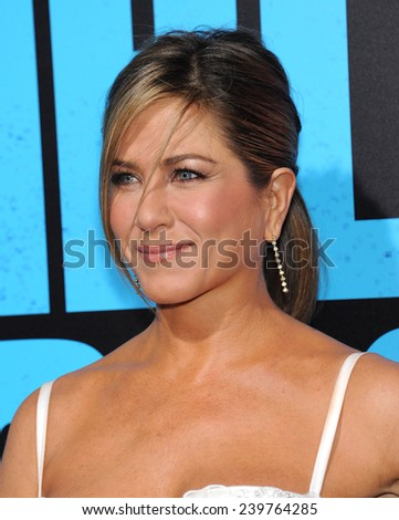"LOS ANGELES - NOV 20:  Jennifer Aniston arrives to the ""Horrible Bosses 2"" Los Angeles Premiere on November 20, 2014 in Hollywood, CA                 - stock photo"