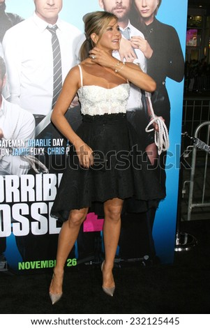 "LOS ANGELES - NOV 20:  Jennifer Aniston at the ""Horrible Bosses 2"" Premiere at the TCL Chinese Theater on November 20, 2014 in Los Angeles, CA - stock photo"