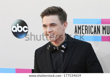 LOS ANGELES - NOV 24: Jesse McCartney at the 2013 American Music Awards at Nokia Theater L.A. Live on November 24, 2013 in Los Angeles, California - stock photo