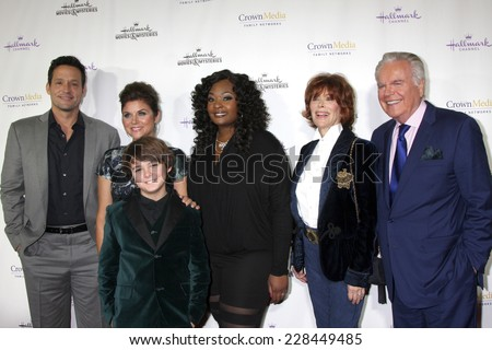 "LOS ANGELES- NOV 4: Josh Hopkins, Bailee Madison, Max Charles, Candice Glover, Jill St.John, Robert Wagner at the ""Northpole"" Screening  at La Piazza Restaurant on November 4, 2014 in Los Angeles, CA"