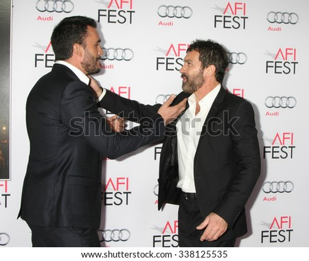 "LOS ANGELES - NOV 9:  Juan Pablo Raba, Antonio Bandares at the AFI Fest 2015 Presented by Audi - ""The 33"" Premiere at the TCL Chinese Theater on November 9, 2015 in Los Angeles, CA"