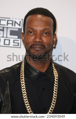 LOS ANGELES - NOV 23:  Juicy J at the 2014 American Music Awards - Press Room at the Nokia Theater on November 23, 2014 in Los Angeles, CA - stock photo