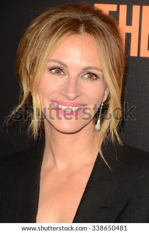 "LOS ANGELES - NOV 11:  Julia Roberts at the ""Secret In Their Eyes"" Los Angeles Premiere at the Hammer Museum on November 11, 2015 in Westwood, CA - stock photo"