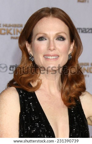LOS ANGELES - NOV 17:  Julianne Moore at the The Hunger Games: Mockingjay Part 1 Premiere at the Nokia Theater on November 17, 2014 in Los Angeles, CA - stock photo