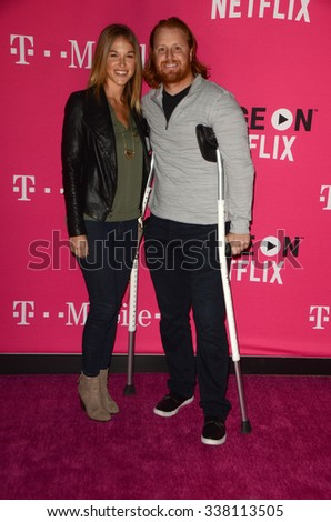 LOS ANGELES - NOV 10:  Justin Turner at the T-Mobile Un-carrier X Launch Celebration at the Shrine Auditorium on November 10, 2015 in Los Angeles, CA - stock photo