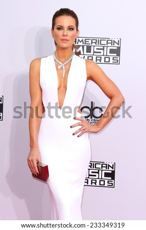 LOS ANGELES - NOV 23:  Kate Beckinsale at the 2014 American Music Awards - Arrivals at the Nokia Theater on November 23, 2014 in Los Angeles, CA - stock photo