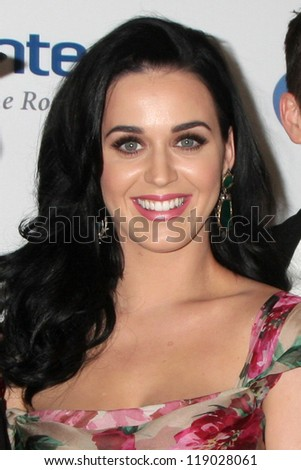 LOS ANGELES - NOV 16:  Katy Perry arrives for the 11th Annual Celebration of Dreams at Bacara Resort & Spa on November 16, 2012 in Santa Barbara, CA - stock photo