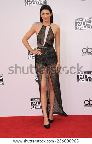 LOS ANGELES - NOV 23:  Kendall Jenner arrives to the 2014 American Music Awards on November 23, 2014 in Los Angeles, CA                 - stock photo