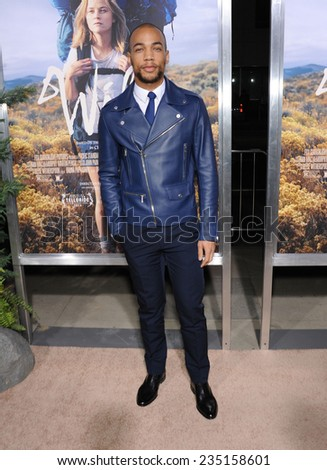"""LOS ANGELES - NOV 19:  Kendrick Sampson arrives to the """"Wild"""" Los Angeles Premiere on November 19, 2014 in Beverly Hills, CA                 - stock photo"""