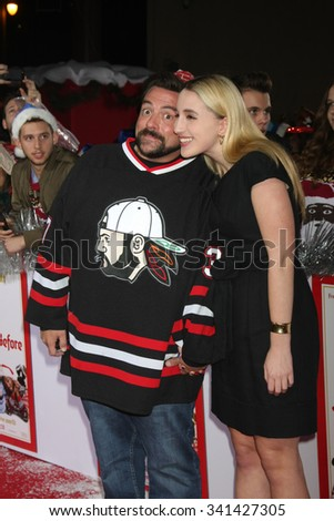 "LOS ANGELES - NOV 17:  Kevin Smith at the ""The Night Before"" LA Premiere at the The Theatre at The ACE Hotel on November 17, 2015 in Los Angeles, CA - stock photo"