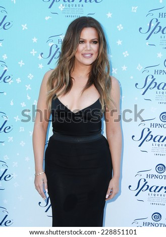 LOS ANGELES - NOV 3:  Khloe Kardashian at the HYPNOTIQ Sparkle Launch at the Mr. C on November 3, 2014 in Beverly Hills, CA - stock photo