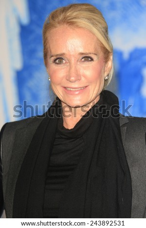 LOS ANGELES - NOV 19: Kim Richards at the premiere of Walt Disney Animation Studios' 'Frozen' at the El Capitan Theater on November 19, 2013 in Los Angeles, CA - stock photo