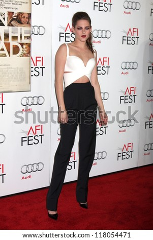 "LOS ANGELES - NOV 3:  Kristen Stewart arrives at the AFI Film Festival 2012  ""On the Road"" Gala Screening at Los Angeles on November 3, 2012 in Graumans Chinese Theater, CA"