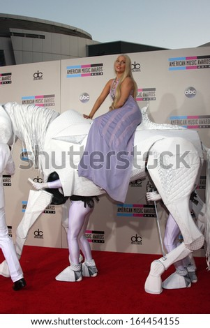 LOS ANGELES - NOV 24:  Lady Gaga at the 2013 American Music Awards Arrivals at Nokia Theater on November 24, 2013 in Los Angeles, CA - stock photo