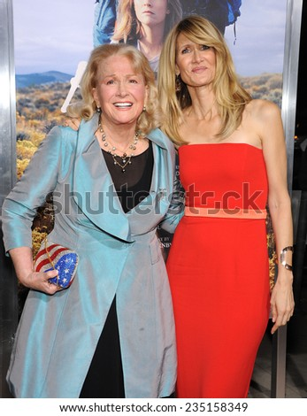 """LOS ANGELES - NOV 19:  Laura Dern & Diane Ladd arrives to the """"Wild"""" Los Angeles Premiere on November 19, 2014 in Beverly Hills, CA                 - stock photo"""