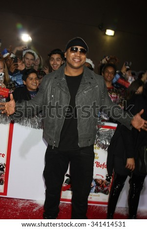 "LOS ANGELES - NOV 17:  LL Cool J, aka James Todd Smith at the ""The Night Before"" LA Premiere at the The Theatre at The ACE Hotel on November 17, 2015 in Los Angeles, CA - stock photo"