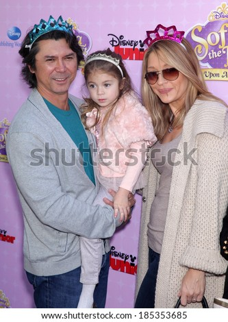 "LOS ANGELES - NOV 09:  Lou Diamond Phillips, Yvonne & Indigo Yvonne arrives to the ""Sofia The First: Once Upon A Princess"" Premiere  on November 09, 2012 in Burbank, CA"