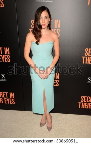 """LOS ANGELES - NOV 11:  Lyndon Smith at the """"Secret In Their Eyes"""" Los Angeles Premiere at the Hammer Museum on November 11, 2015 in Westwood, CA - stock photo"""