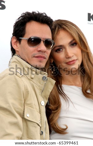 LOS ANGELES - NOV 18:  Marc Anthony, Jennifer Lopez  at the press conference for Jennifer Lopez & Marc Anthony / Kohl's  Launch at The London Hollywood on November 18, 2010 in W. Hollywood, CA - stock photo
