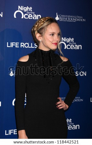 LOS ANGELES - NOV 11:  Meaghan Martin arrives at the Life Rolls On Foundation's 9th Annual Night By The Ocean at The Ritz-Carlton on November 11, 2012 in Marina del Rey, CA
