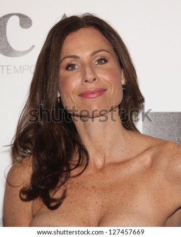 LOS ANGELES - NOV 12:  MINNIE DRIVER arriving to MOCA Annual Gala 2011  on November 12, 2011 in Los Angeles, CA - stock photo