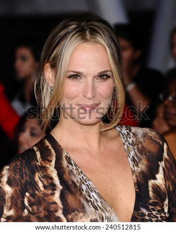 "LOS ANGELES - NOV 11:  Molly Sims arrives to the ""The Twilight Saga: Breaking Dawn-Part 2"" World Premiere  on November 11, 2012 in Los Angeles, CA                 - stock photo"