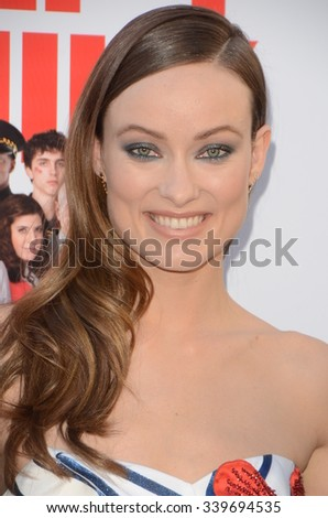 "LOS ANGELES - NOV 12:  Olivia Wilde at the ""Love the Coopers"" Los Angeles Premiere at the The Grove on November 12, 2015 in Los Angeles, CA - stock photo"