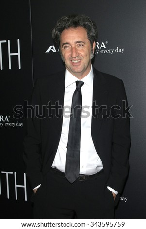 """LOS ANGELES - NOV 17:  Paolo Sorrentino at the """"Youth"""" LA Premiere at the Directors Guild of America on November 17, 2015 in Los Angeles, CA - stock photo"""