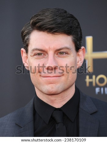 LOS ANGELES - NOV 14:  Patrick Fugit arrives to the The Hollywood Film Awards 2014 on November 14, 2014 in Hollywood, CA                 - stock photo