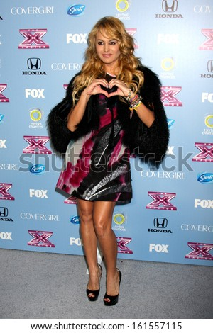 "LOS ANGELES - NOV 4:  Paulina Rubio at the 2013 ""X Factor"" Top 12 Party  at SLS Hotel on November 4, 2013 in Beverly Hills, CA - stock photo"