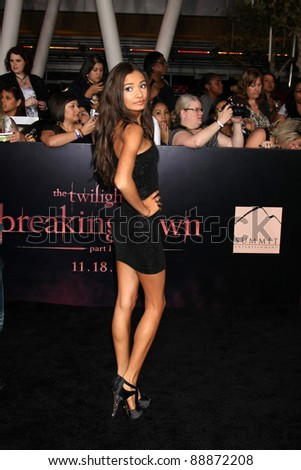 "LOS ANGELES - NOV 14:  Pia Mia arrives at the ""Twilight: Breaking Dawn Part 1"" World Premiere at Nokia Theater at LA LIve on November 14, 2011 in Los Angeles, CA - stock photo"