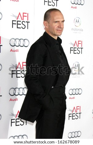 "LOS ANGELES - NOV 11:  Ralph Fiennes at the ""The Invisible Woman"" Screening at AFI Fest at TCL Chinese Theater on November 11, 2013 in Los Angeles, CA"