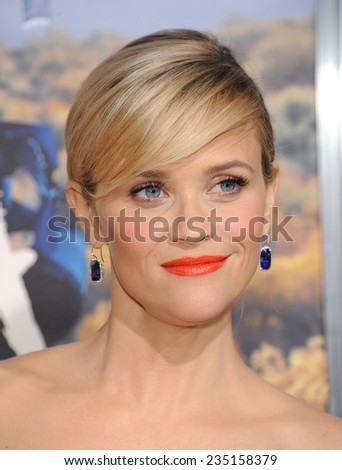 """LOS ANGELES - NOV 19:  Reese Witherspoon arrives to the """"Wild"""" Los Angeles Premiere on November 19, 2014 in Beverly Hills, CA                 - stock photo"""