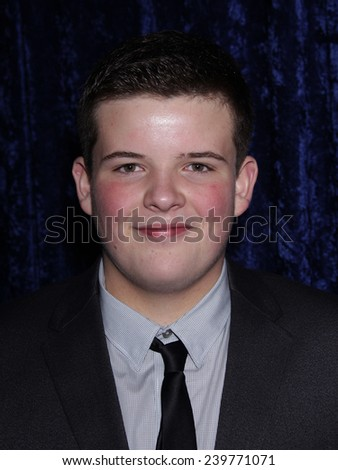 """LOS ANGELES - NOV 22:  RILEY GRIFFITHS arrives to the """"Super 8"""" DVD Launch  on November 22, 2011 in Beverly Hills, CA                 - stock photo"""