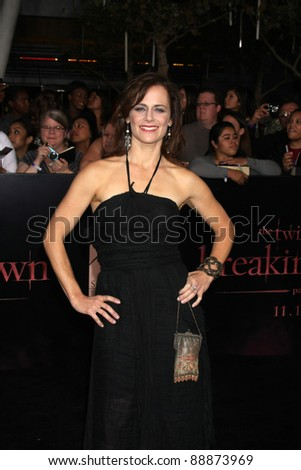 "LOS ANGELES - NOV 14:  Sarah Clarke arrives at the ""Twilight: Breaking Dawn Part 1"" World Premiere at Nokia Theater at LA LIve on November 14, 2011 in Los Angeles, CA - stock photo"