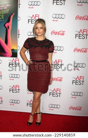 "LOS ANGELES - NOV 8:  Sasha Pieterse at the ""Inherent Vice"" Screening at AFI Film Festival at the Egyptian Theater on November 8, 2014 in Los Angeles, CA"